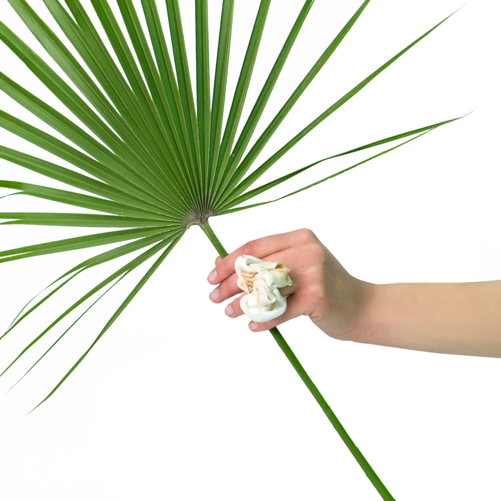 Hazel ring with plant