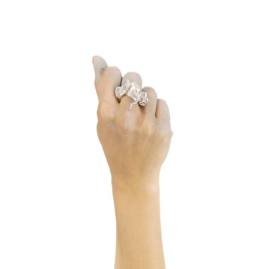 Node silber ring