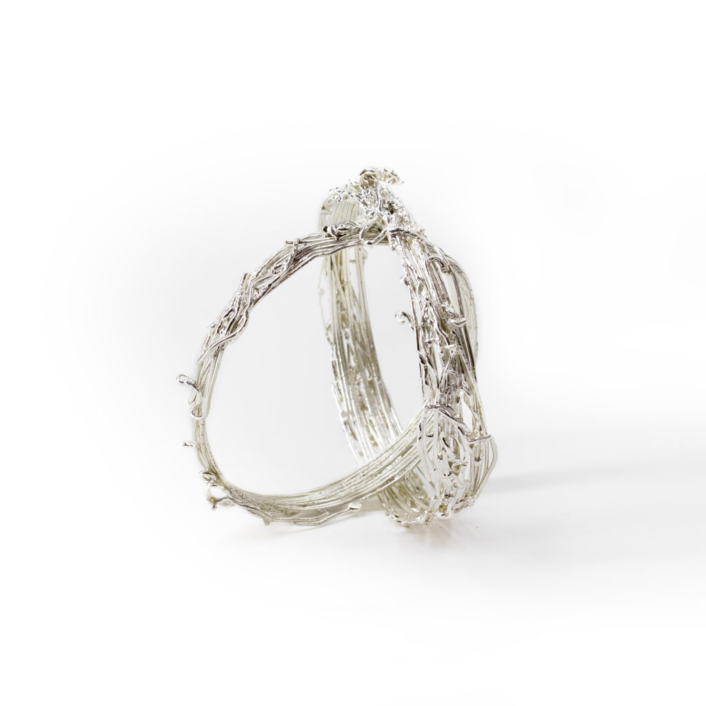 Trame silver bracelets
