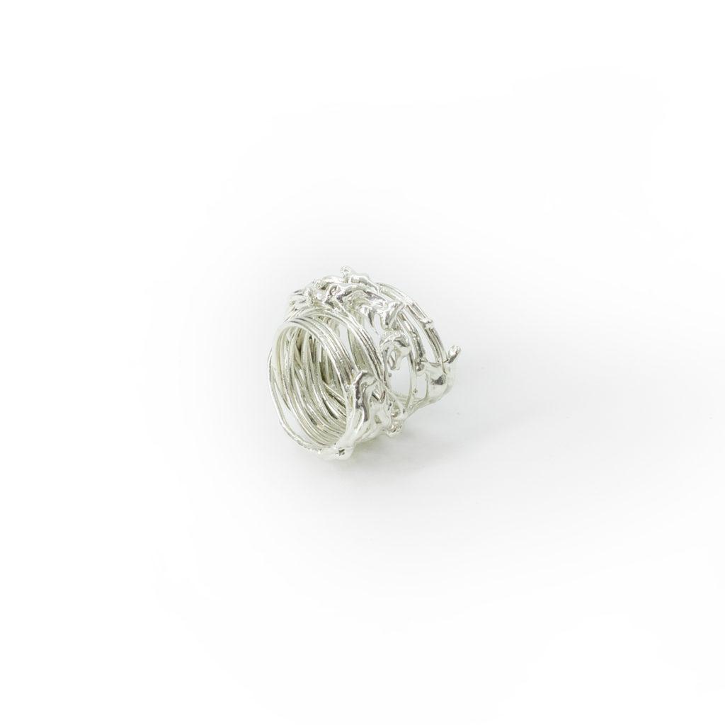 Trama silver ring